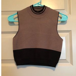 Boutique- High Neck Cropped Top- Size S